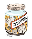Cats - antistress medicine. Cheerful vector poster. Royalty Free Stock Images
