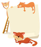 Cats around the frame stock illustration
