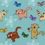 Cats backround in simple style Royalty Free Stock Image