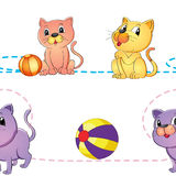 Cats and ball Stock Photo