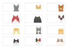 Cats banner set Stock Image
