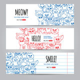 Cats banners template Stock Photos