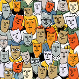 Cats big group seamless pattern Stock Image