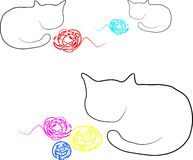Cats with blobs Stock Image