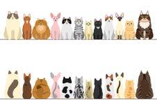 Cats border set Stock Photos