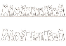 Cats border set Stock Photos