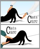 Cats care Stock Images