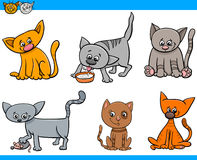 Cats characters cartoon set Stock Photo