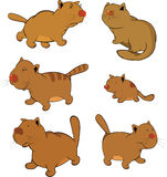 Cats.Clip-Art. Cartoon stock illustration