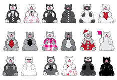 Cats and clothes Royalty Free Stock Photo