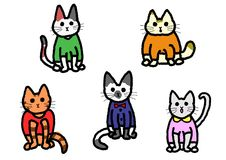 Cats in clothes Royalty Free Stock Photo