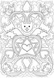 Cats coat of arms of the king of the moon pattern Stock Images