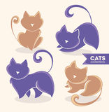 Cats collection Stock Photography