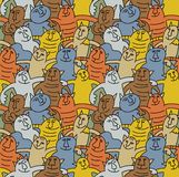 Cats color fun seamless pattern Stock Photo
