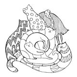 Cats coloring page Stock Photography