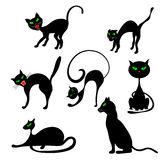 Cats in Different Poses Set Royalty Free Stock Image