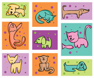 Cats and dogs. Royalty Free Stock Photography