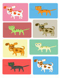 Cats and dogs set Stock Photos