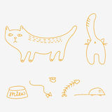 Cats doodles Stock Photography