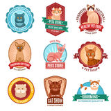 Cats emblem set Stock Images