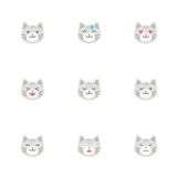 Cats' emoticons Stock Images