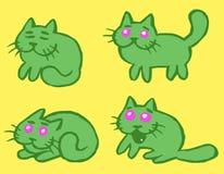 Cats Emoticons Set Vector Illustration Stock Photos