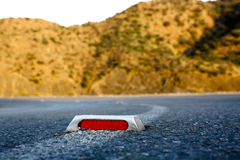 Cats eye on the Road Royalty Free Stock Photo