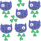 Cats  and flowers seamless pattern. It is located in swatch menu. Vector  illustration design Stock Photos