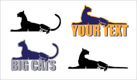Cats. Generalized collective image of the big cats stock illustration