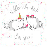 Cats greeting card Royalty Free Stock Images