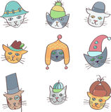 Cats in hats Royalty Free Stock Photo