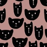 Cats head seamless pattern. Background for kids design. Background for kids design. Cats head seamless pattern Royalty Free Stock Photo