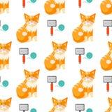 Cats heads vector illustration cute animal funny seamless pattern. Cats heads vector illustration cute animal funny decorative characters color abstract feline Royalty Free Stock Photography