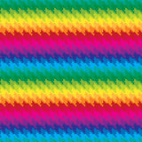 Pixel Hounds Tooth Pattern in Rainbow Colors. Seamless hounds tooth pattern in rainbow colors royalty free illustration
