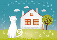 Cats house Royalty Free Stock Images