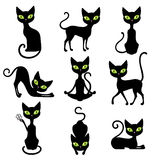 Cats Icon Set Royalty Free Stock Photography