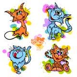 Cats illustration. Cute cat vector illustration series Royalty Free Stock Image