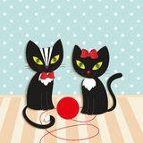 Cats - illustration,  Royalty Free Stock Photography