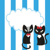 Cats - illustration,  Royalty Free Stock Image