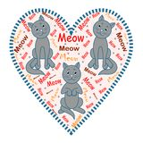 Cats. The image of gray cats vector illustration