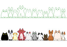 Cats loafing in a row Stock Image