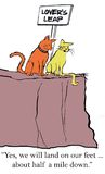 Cats look at drop from Lovers Leap Royalty Free Stock Photo