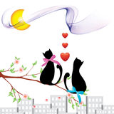 Cats_love. Cats and love.Illustrations for Royalty Free Stock Photo