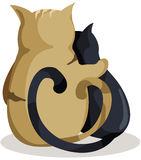 Cats in love Royalty Free Stock Photo