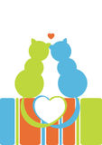 Cats in love stock illustration