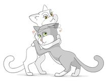 Cats in love Stock Photography