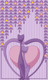 Cats in Love. Abstract background with two cats in love Stock Photography