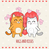 Cats in love Royalty Free Stock Photos