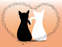Cats in love. Two cats in love illustration Royalty Free Stock Image
