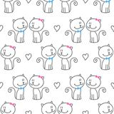 Cats in love Stock Image